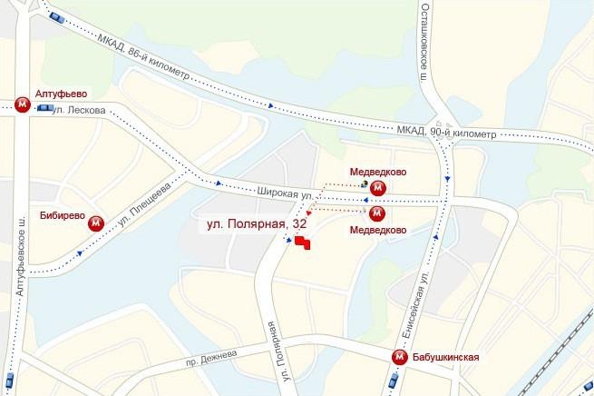 """На автобусной остановке сесть на любой транспорт и ехать до Кожгалантерейной фабрики Медведково ( """"Сумки """")."""