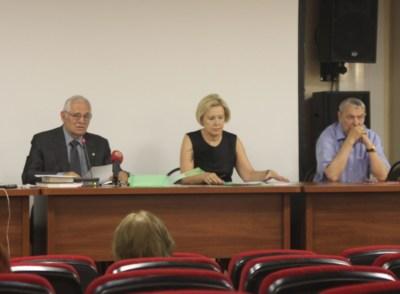 Президиум совета Национальной медицинской палаты: Леонид Рошаль, Наталья Ушакова, Александр Баранов