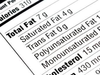 Маркировка содержания транс-жиров в продуктах питания. Изображение с сайта case.edu