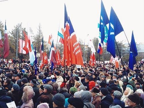 Врачи на митинге протеста против реформы. Фото из инстаграма @antecursor