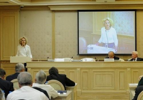Глава Счетной палаты Татьяна Голикова. Фото пресс-службы СП.