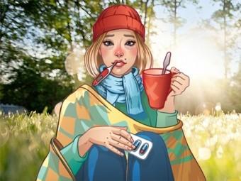 утром шанс заразиться гриппом герпесом выше вечером