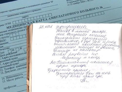 Минздрав обязал медработников демонстрировать пациентам записи вкартах