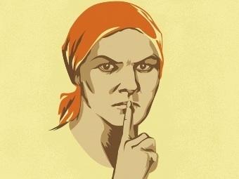"""Фрагмент агитационного плаката """"Не болтай!"""". Иллюстрация с сайта plakaty.ru"""