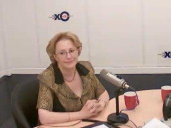 Вероника Скворцова в эфире радиостанции